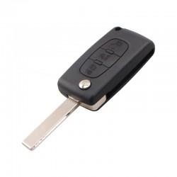 Guscio Citroen/Peugeot 3 Tasti Flip HU83 Batteria su Scheda
