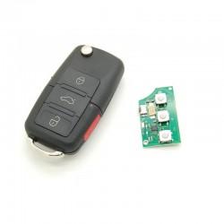 Radiocomando Volkswagen Tre Tasti + 1 Tasto Panic - 434 Mhz