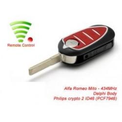 Radiocomando Alfa Romeo Mito Delphi Tre Tasti SIP22 - 434 Mhz